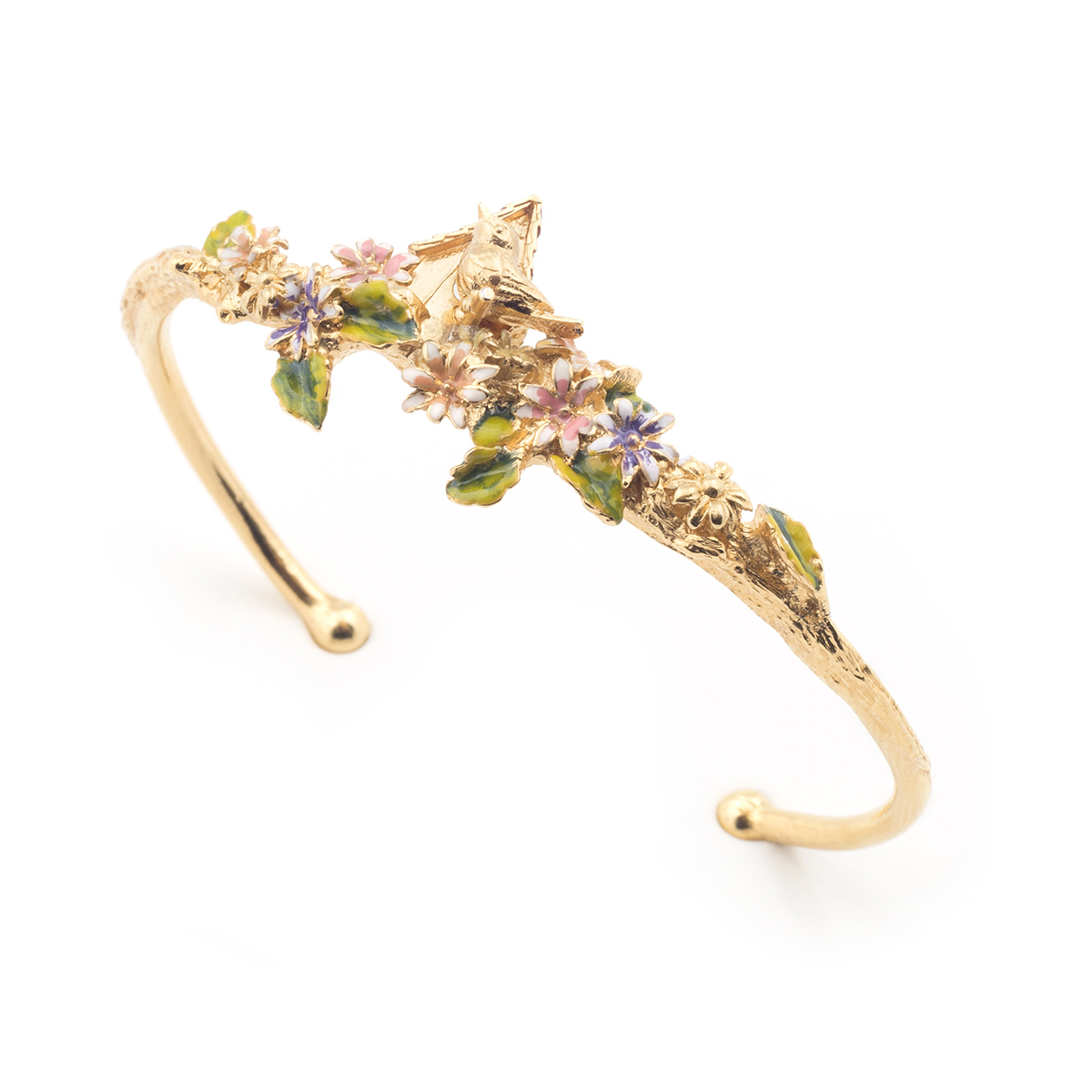 Bird House Bangle - Gold