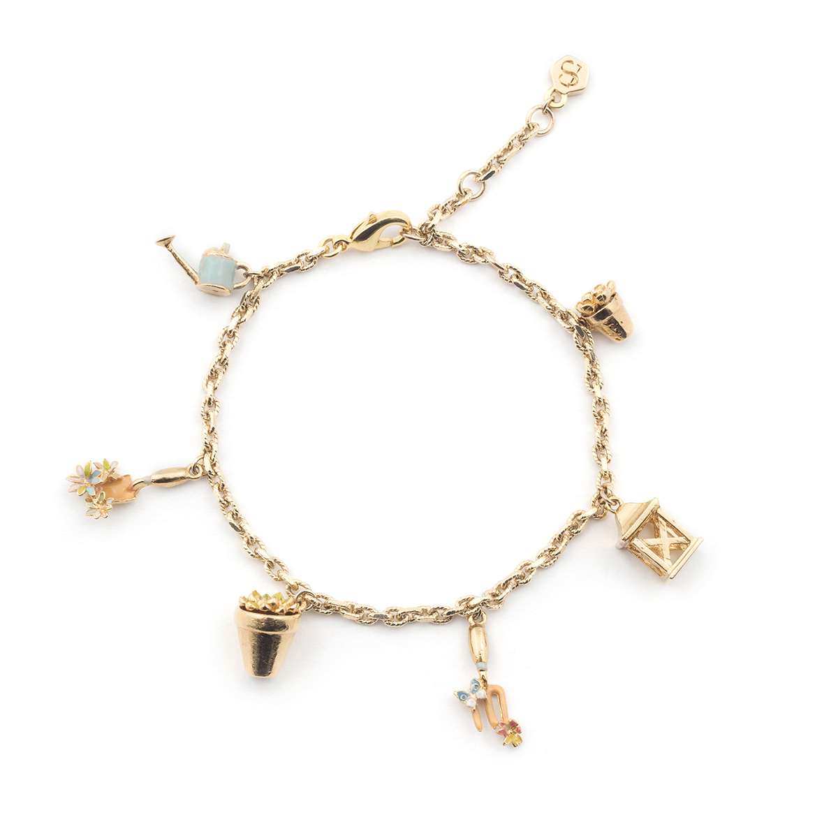 Potting Shed Charm Bracelet - Gold
