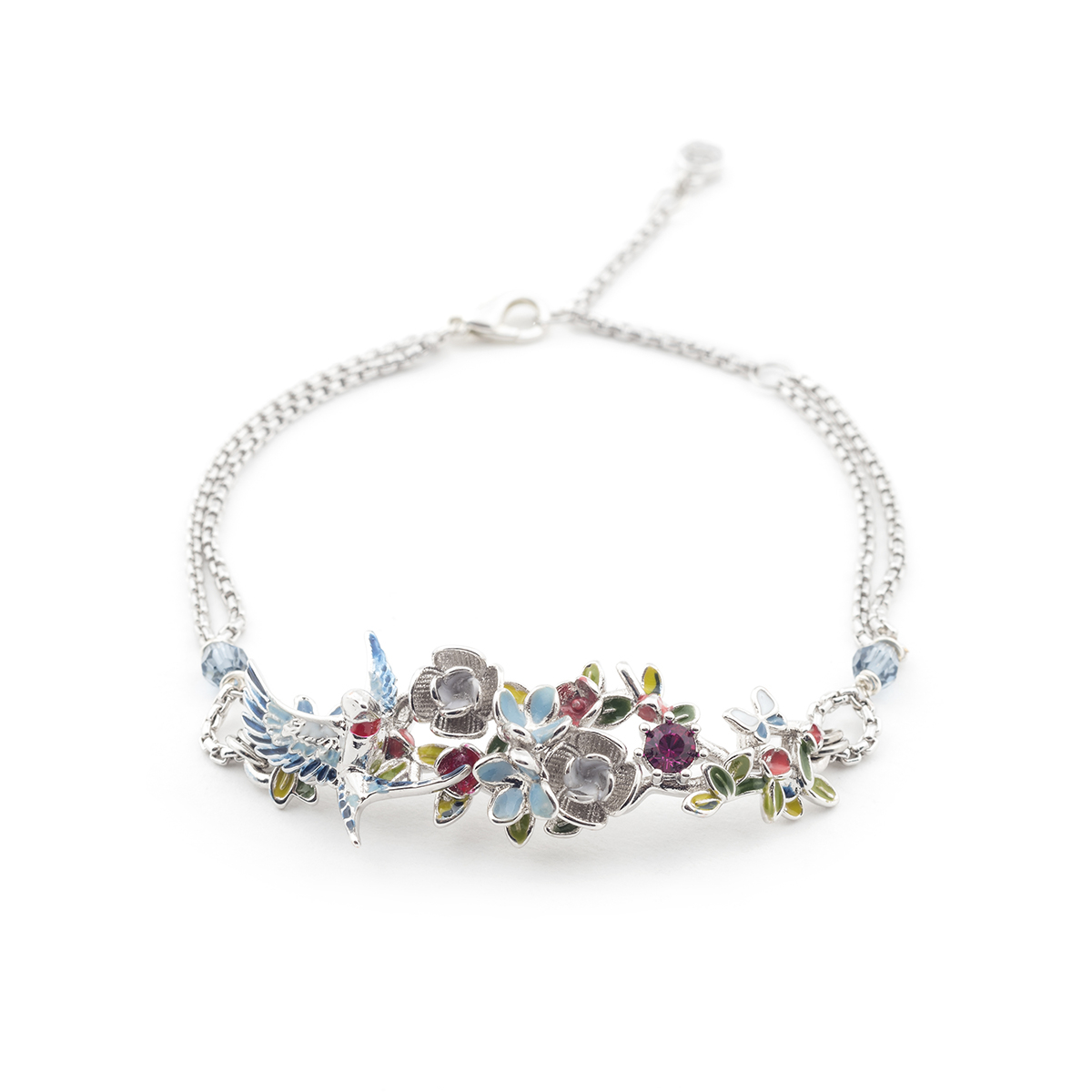 in bracelet en u rhodium d zirconi pietre white bianco bracciale negozio rose zircons with or stones plated argento gold luxanty tennis con silver
