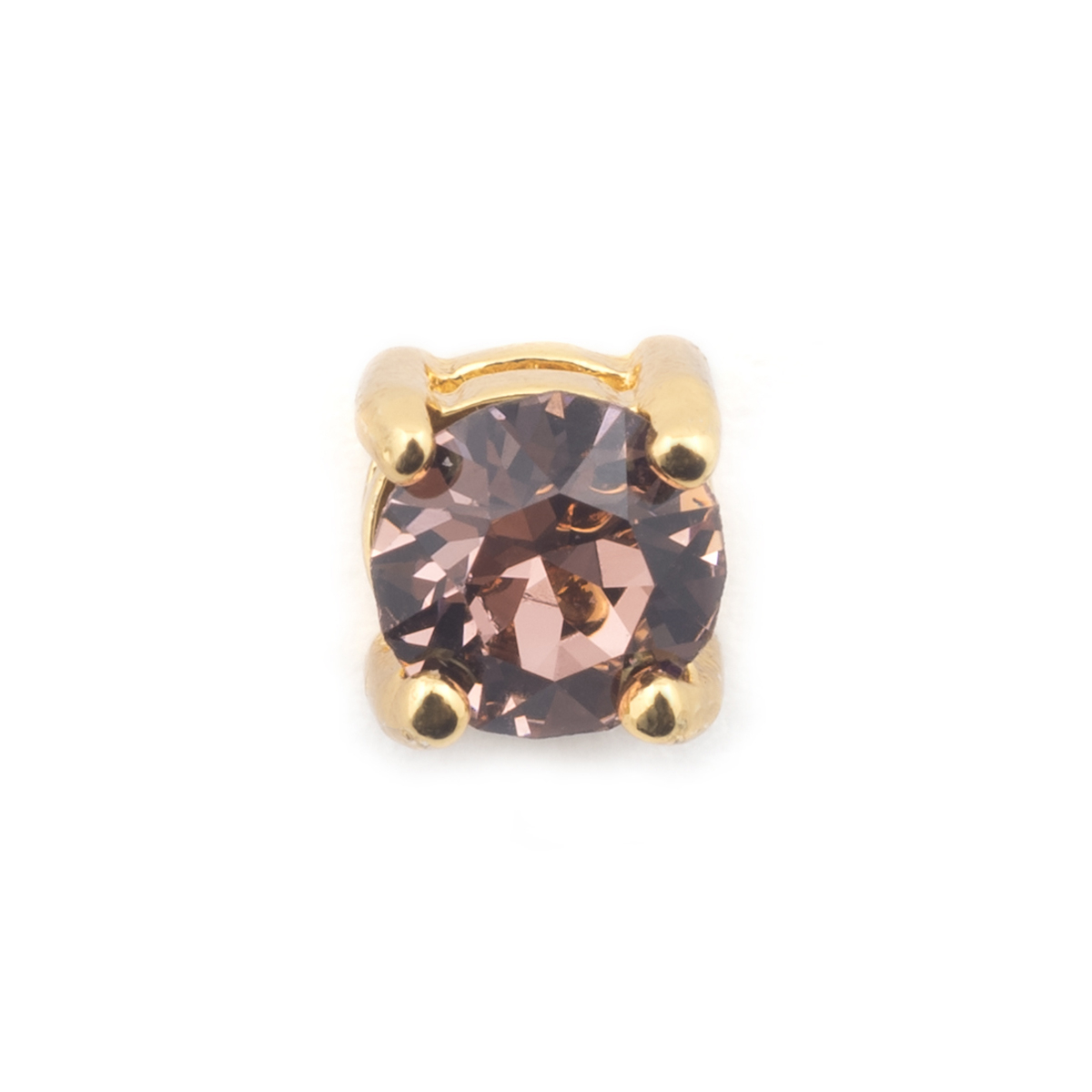 Single Crystal Stud  - Rose