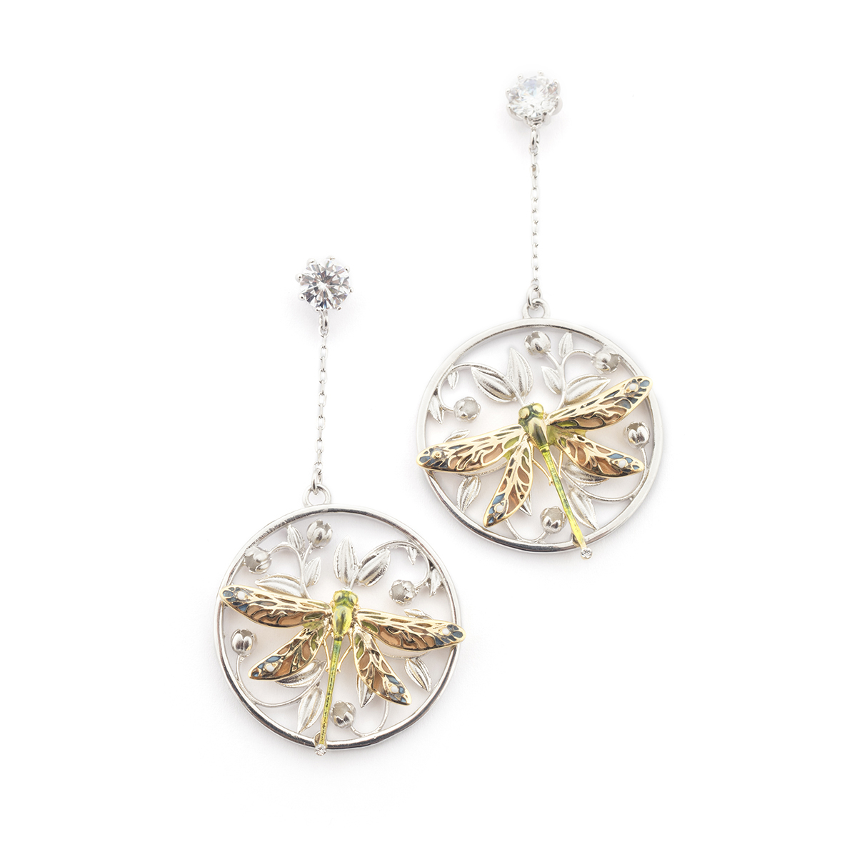 Dragonfly Circle Earring