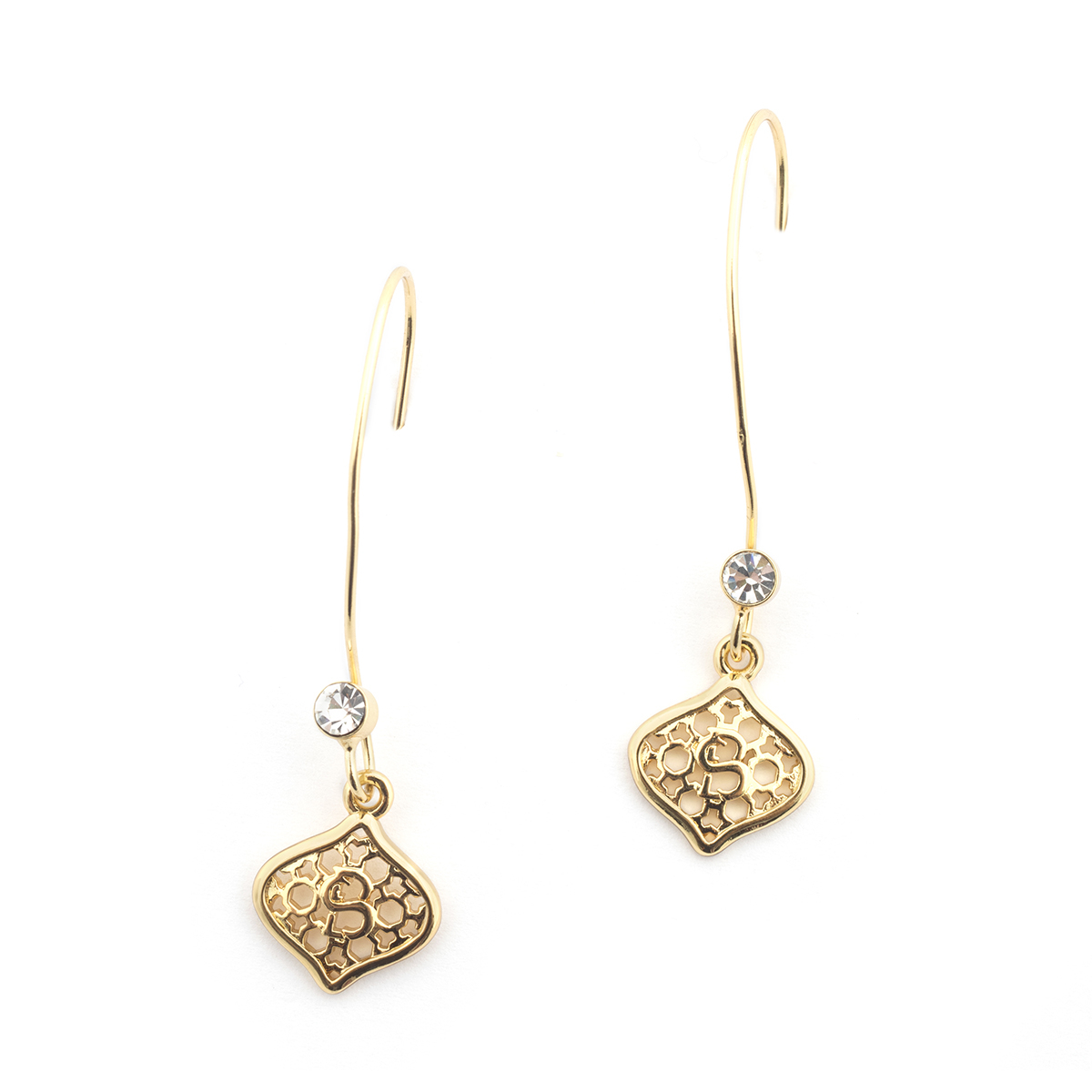 Mini Filigree Morocco Earrings - Gold
