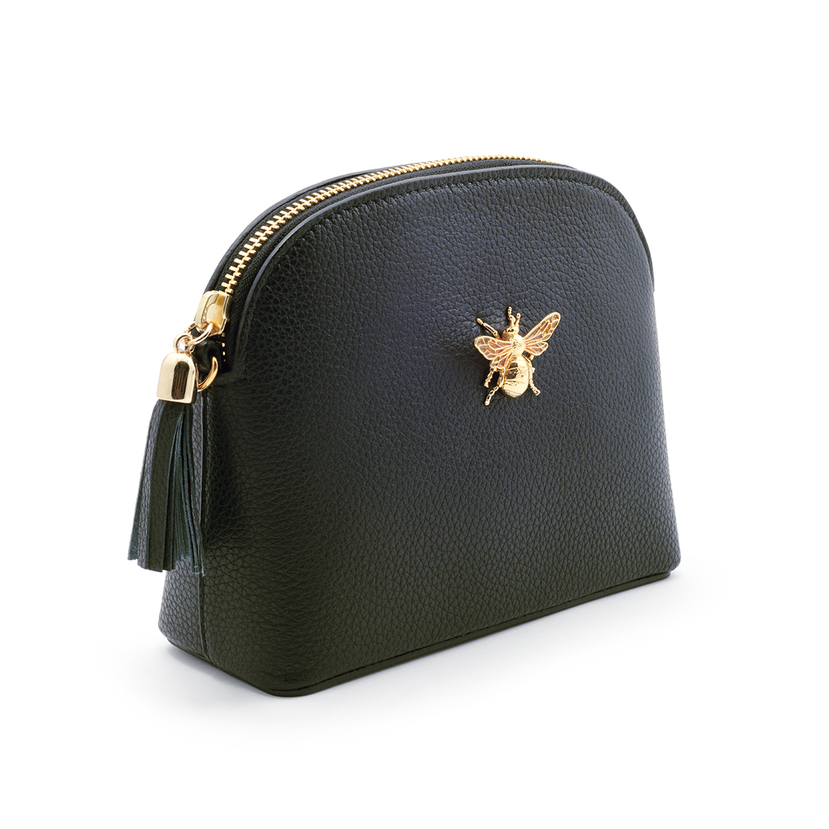Queen Bee Leather Handbag - Black