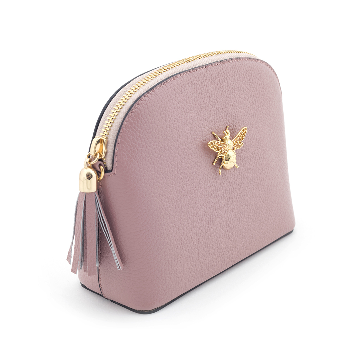 Queen Bee Leather Handbag - Blush