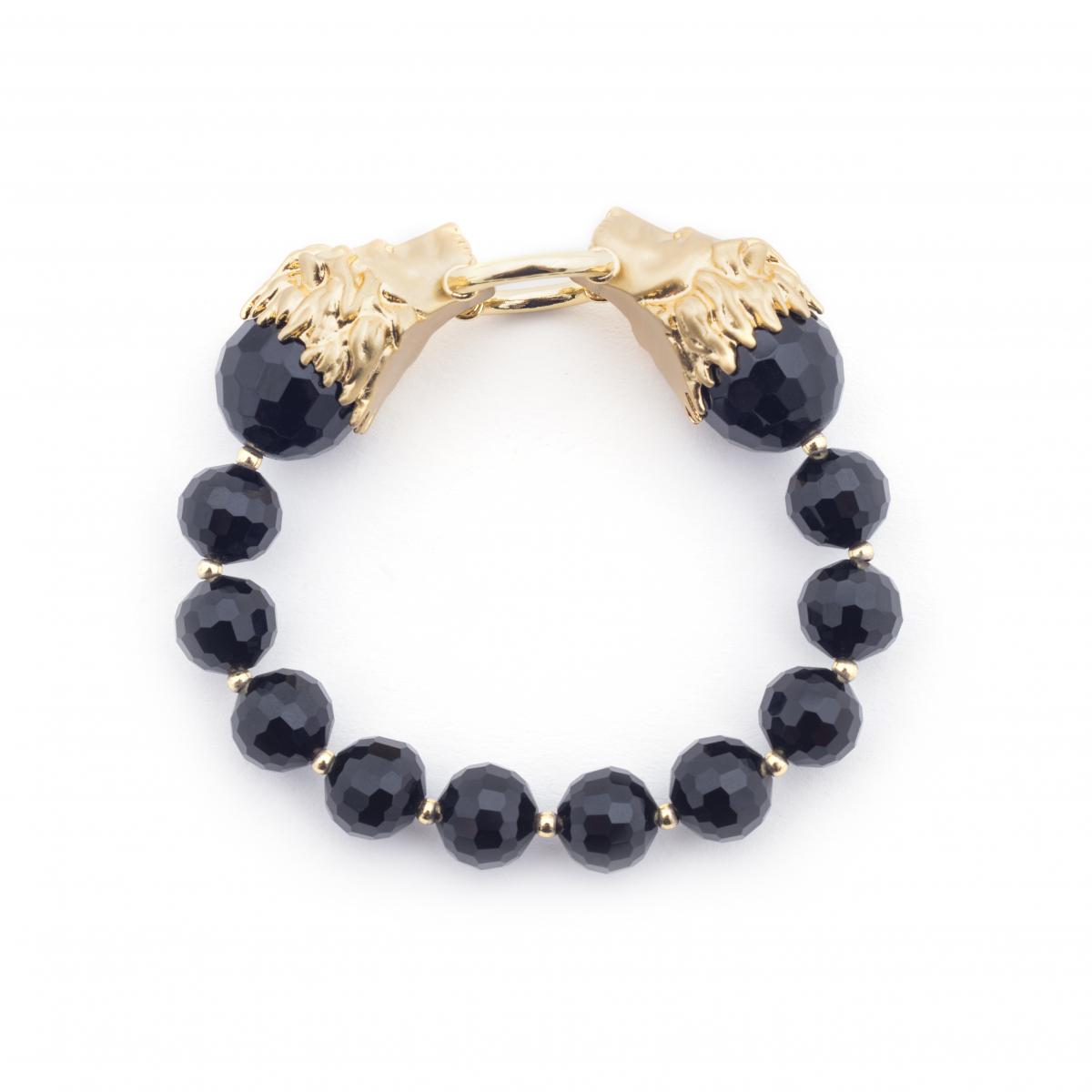 Lion Stretch Bracelet (black)