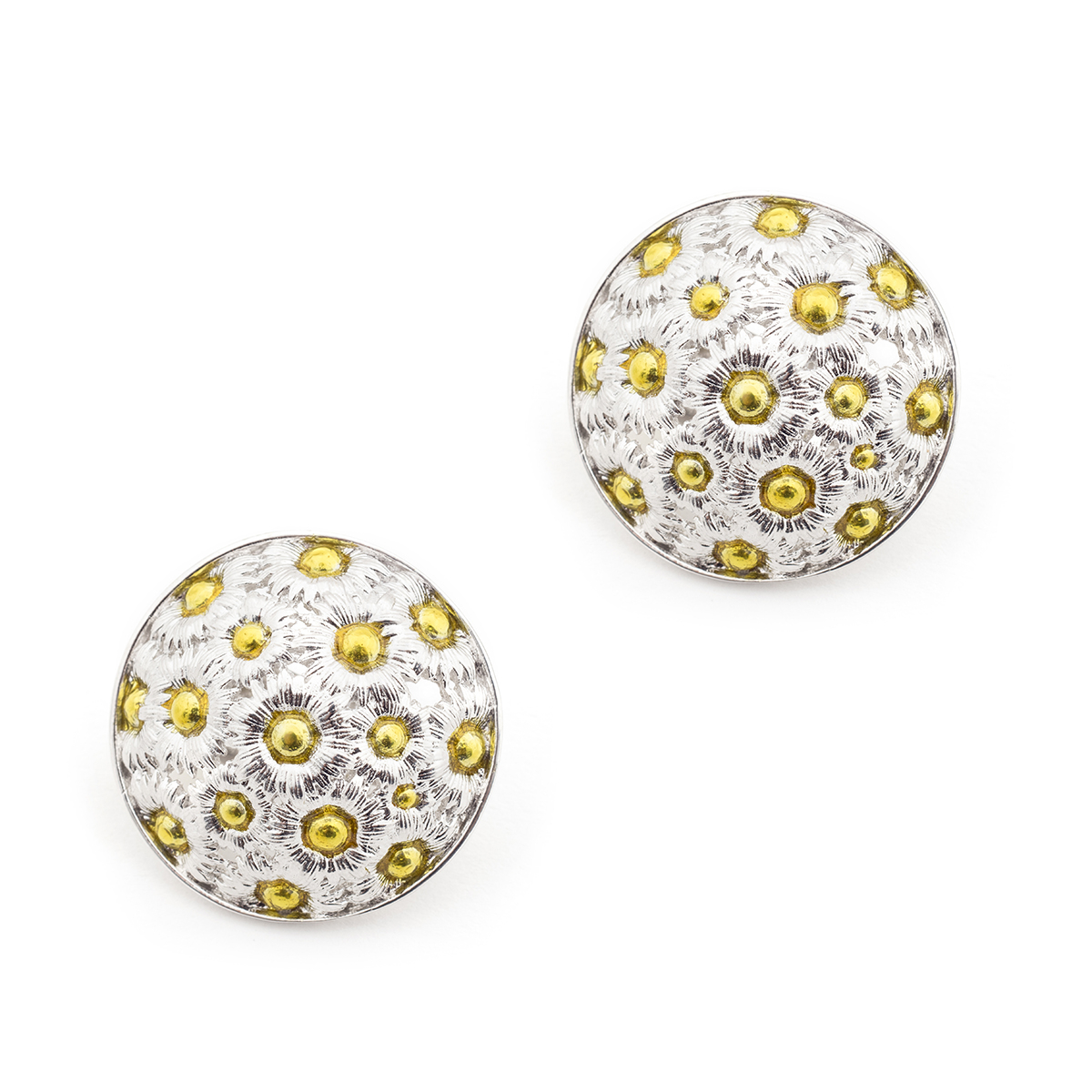Daisy Statement Clip-on Earrings - Rhodium