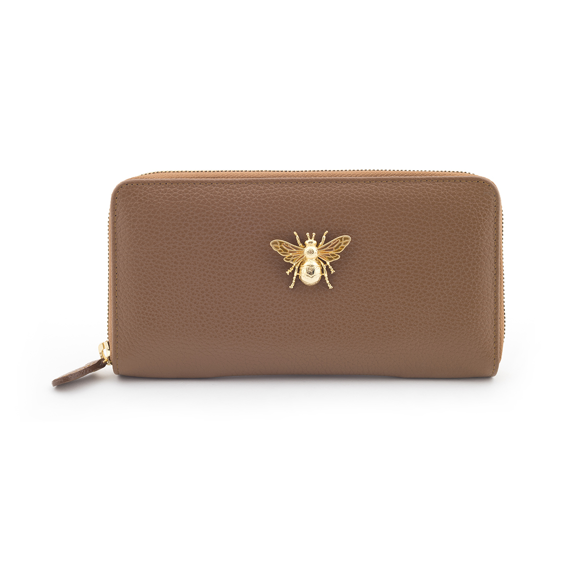 Queen Bee Leather Purse - Tan