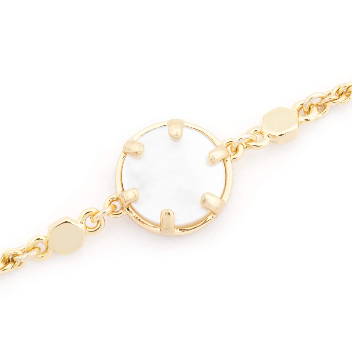 Mini Filigree Bracelet - Mother of Pearl