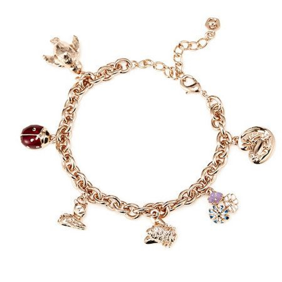Woodland Animal Charm Bracelet - Gold