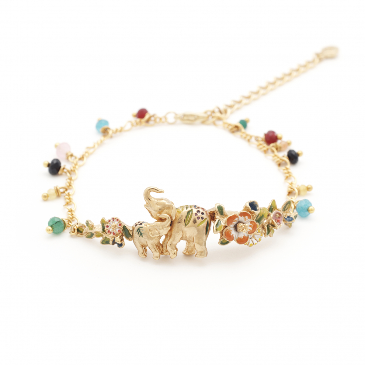 Elephant Statement Bracelet - Gold