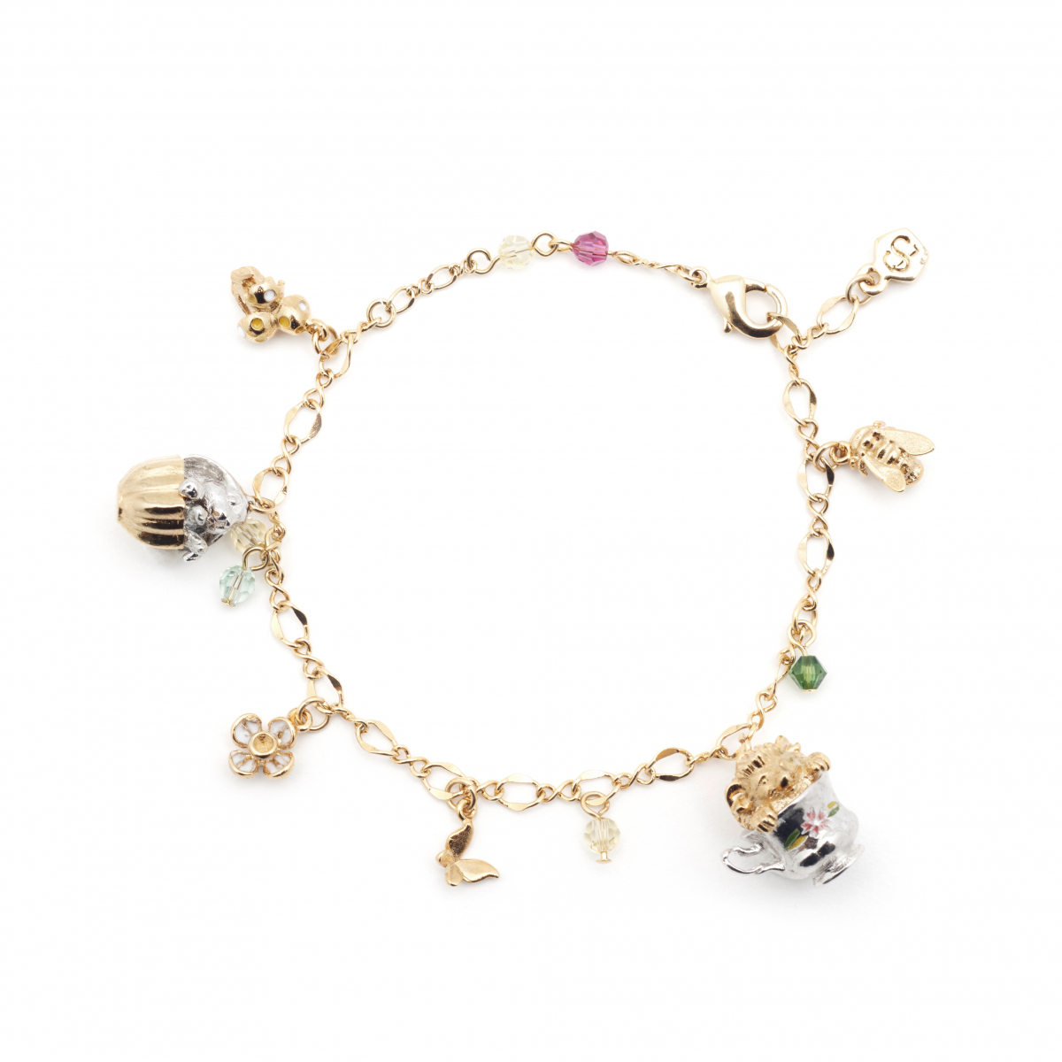 Tea Party Animal Charm Bracelet