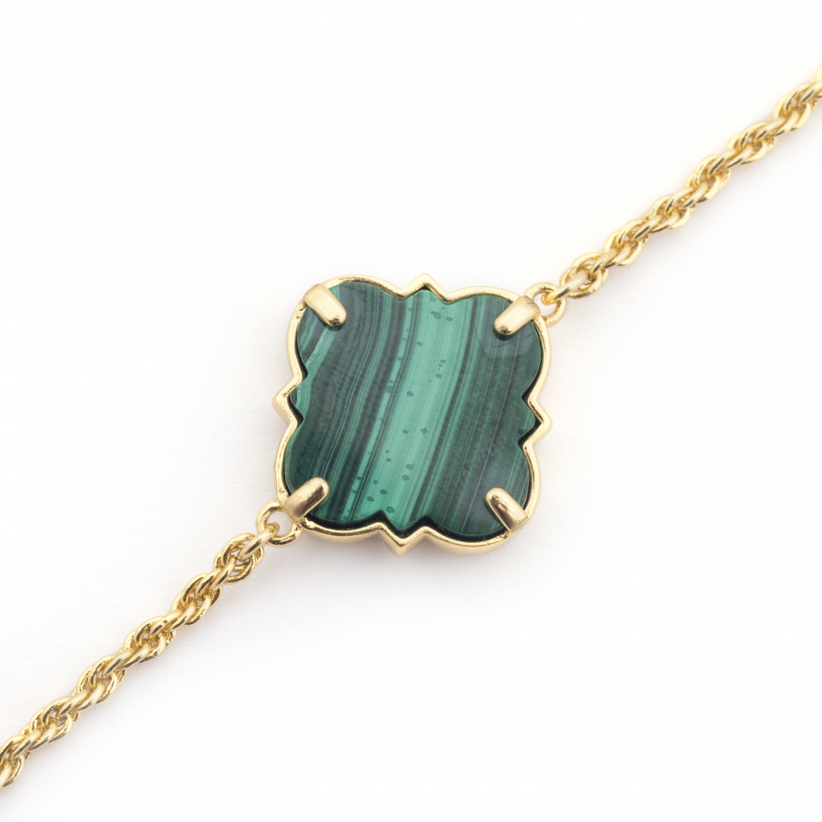 Filigree Morocco Bracelet - Malachite