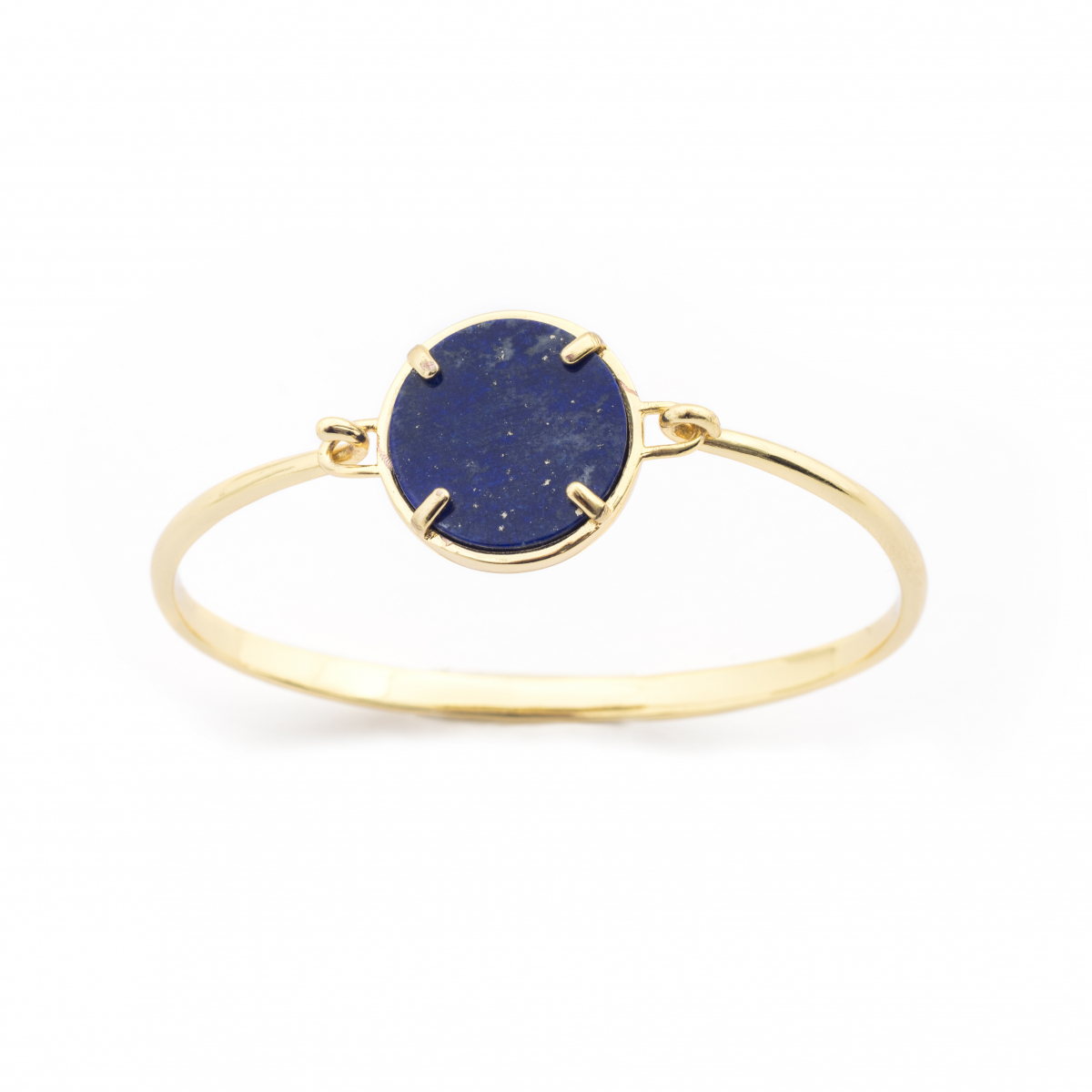 Filigree Disc Bangle - Lapis