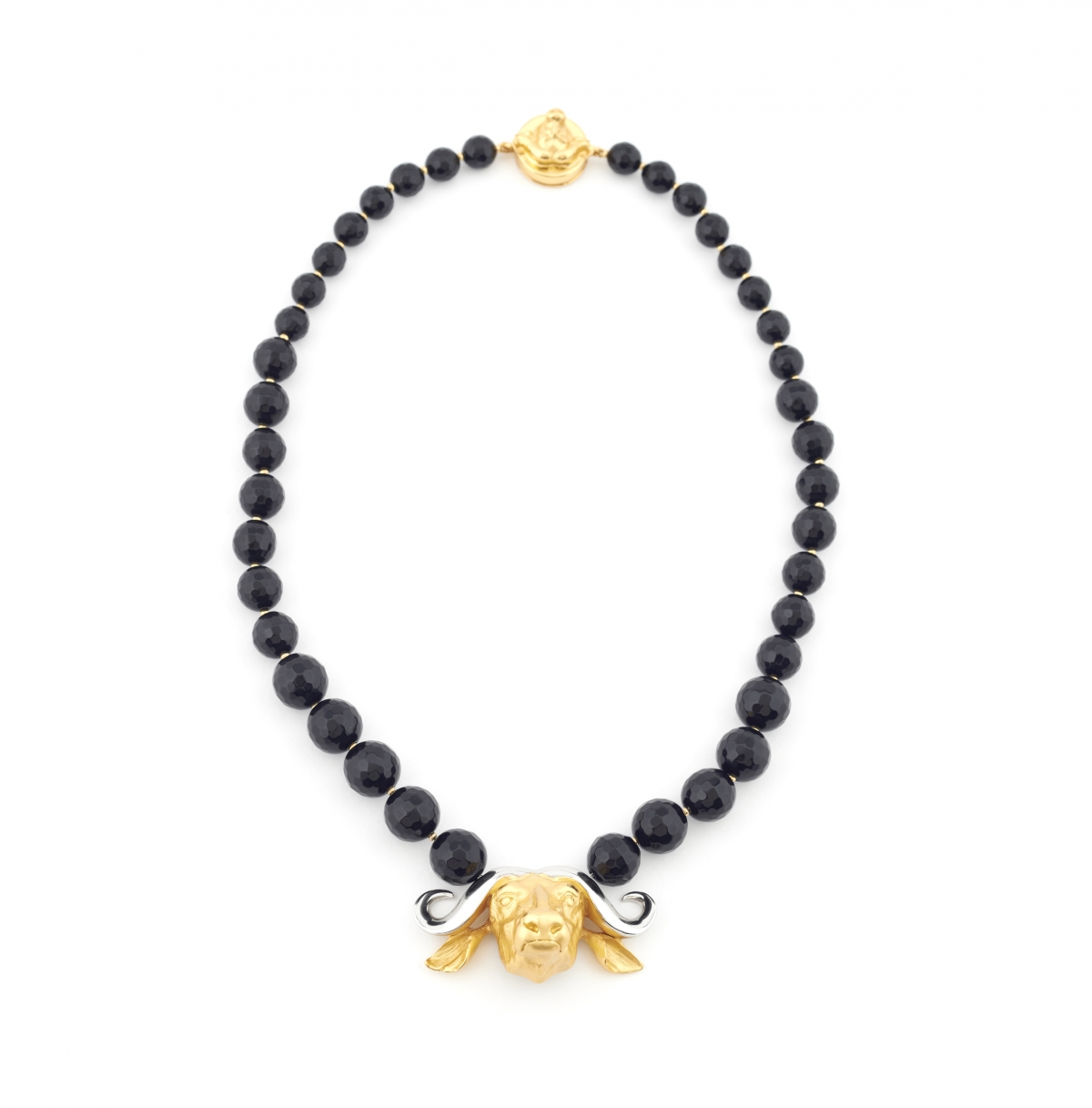 Maxi Buffalo Head Necklace (black)