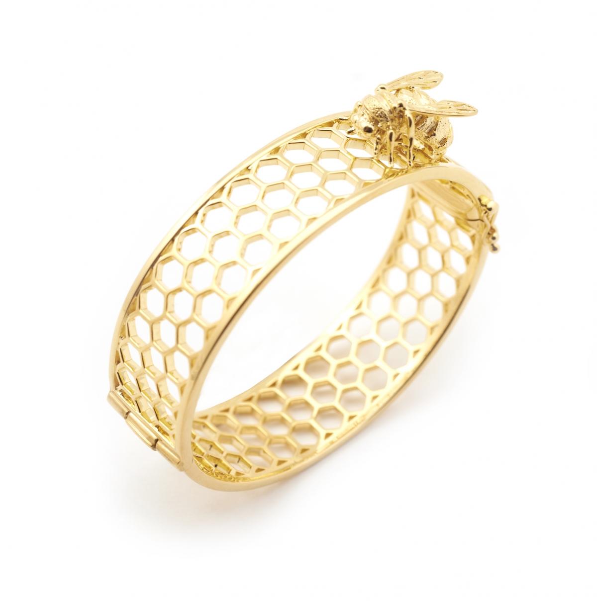 Honey Comb Bee Bangle Fashion Jewellery