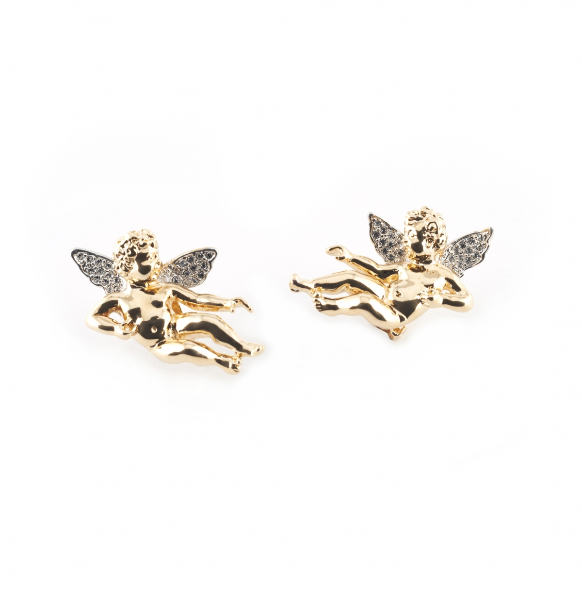 Baroque Cherub Clip Earrings