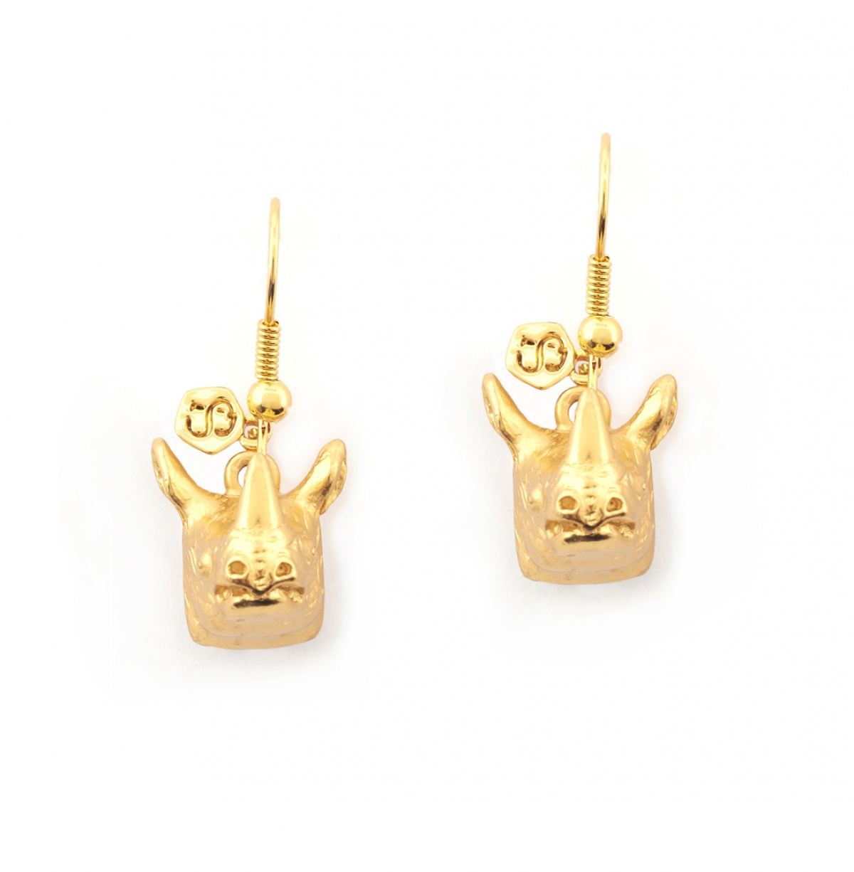 Mini Charm Rhino Earrings
