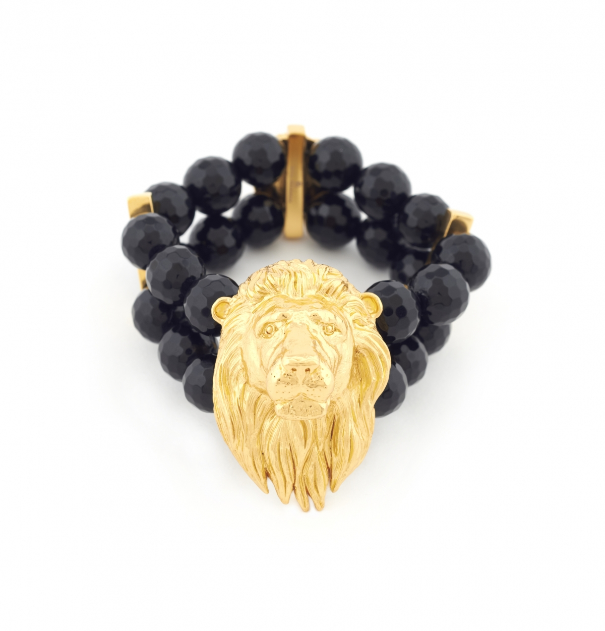 Maxi Lion Head Bracelet (black)