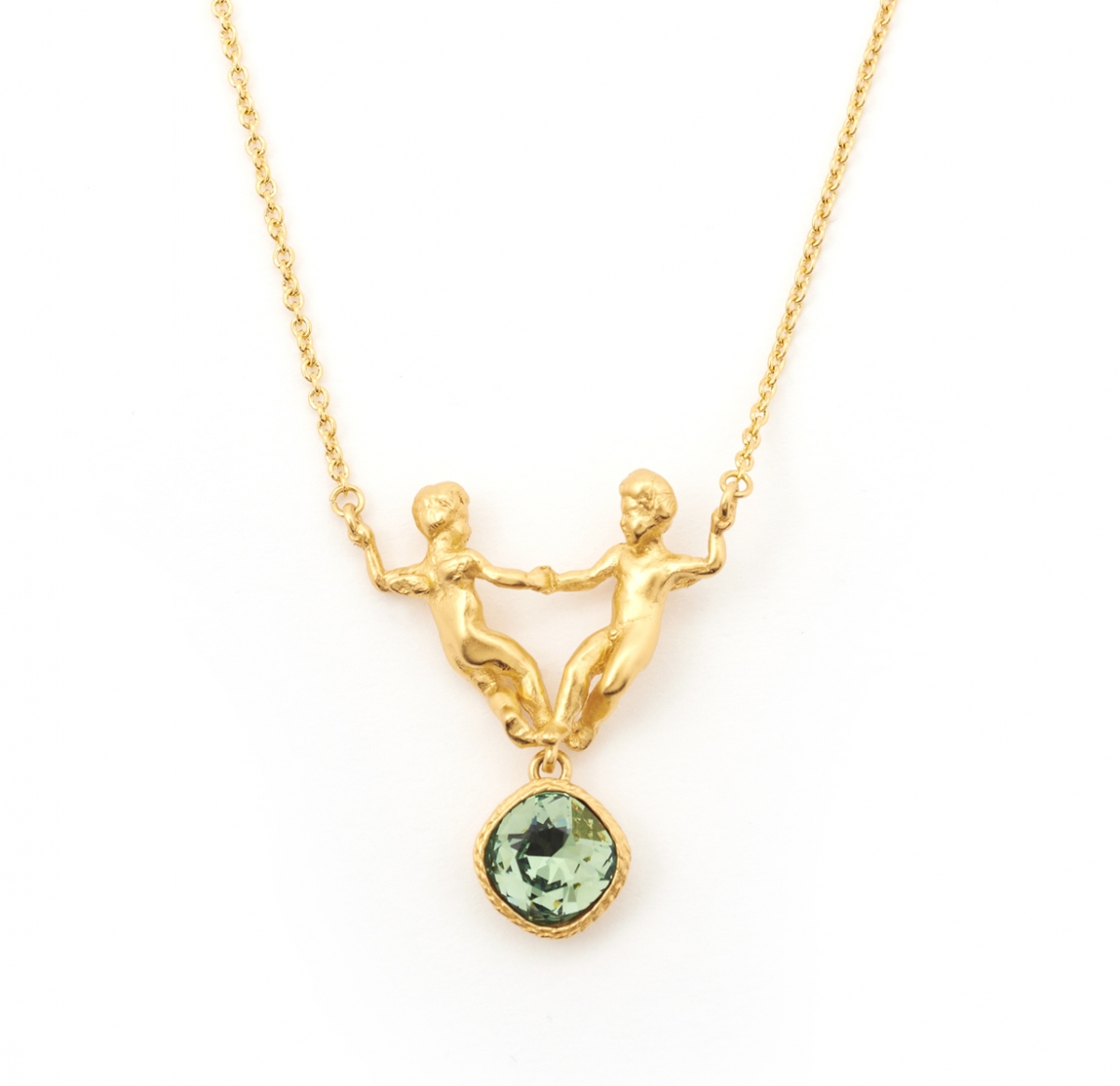 Mini Cherub Necklace (gold)
