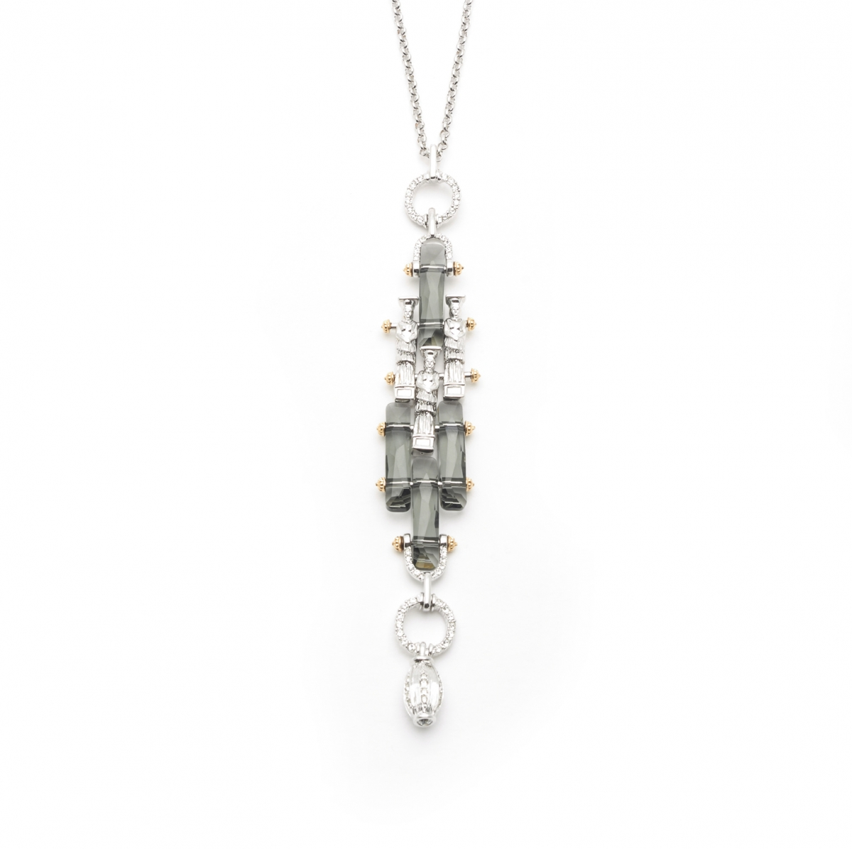 Manhattan Crystal Long Necklace