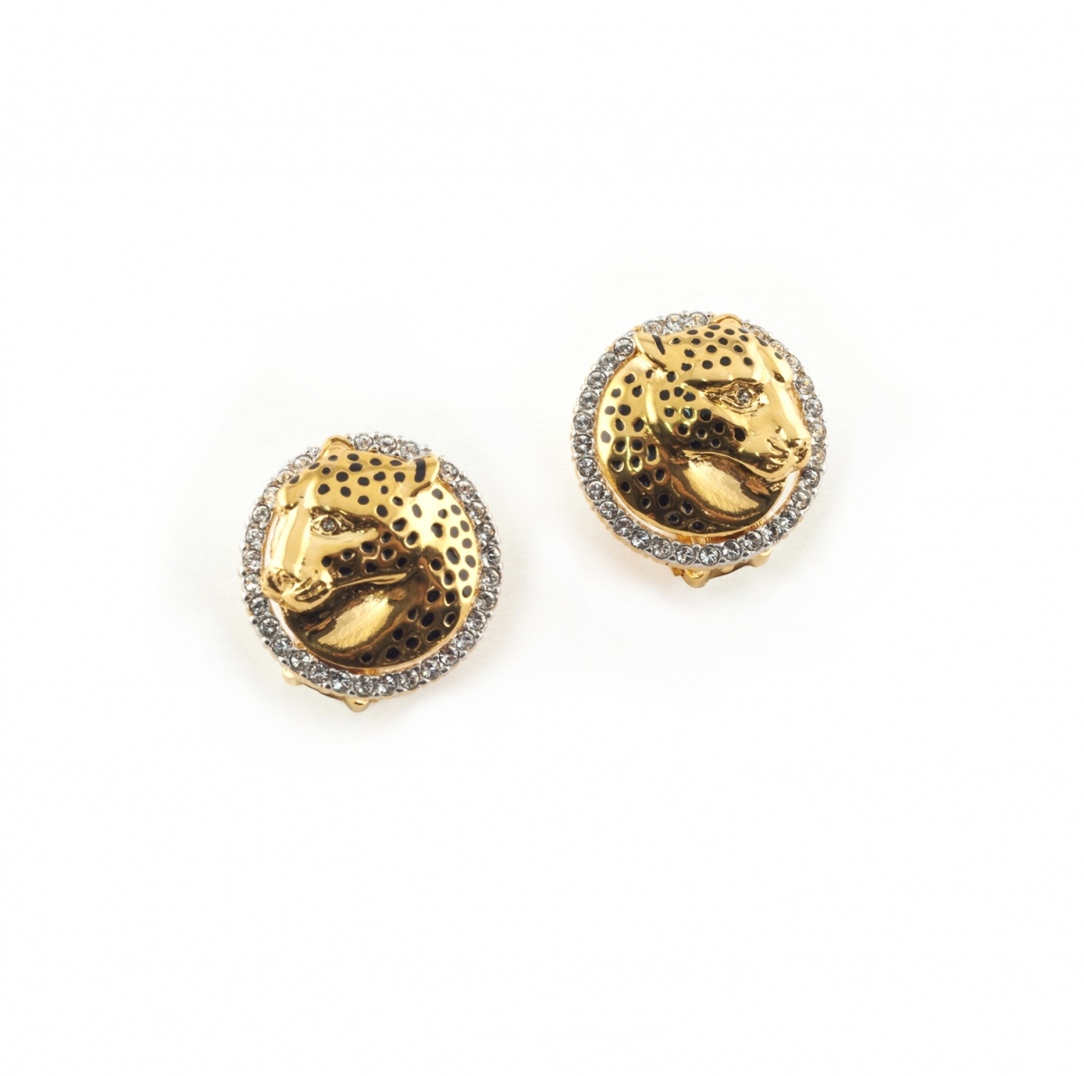 Leopard Clip Earrings