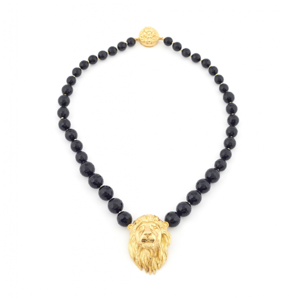 Maxi Lion Head Necklace (black)