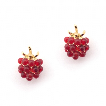 Raspberry Stud Fashion Jewellery