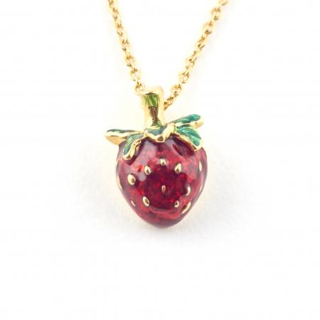 Summer Strawberry Mini Pendant Fashion Jewellery