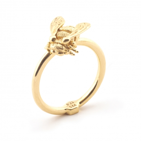 Baby Bee Ring Gold Fashion Jewellery