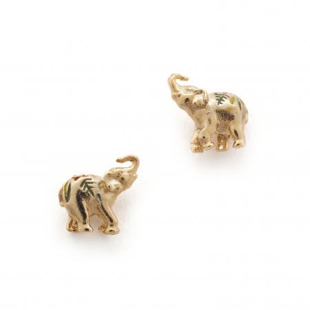Elephant Mini Stud Gold Fashion Jewellery