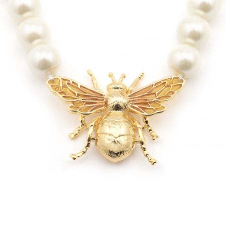 Queen Bee Pearl Necklace Fashion Jewellery