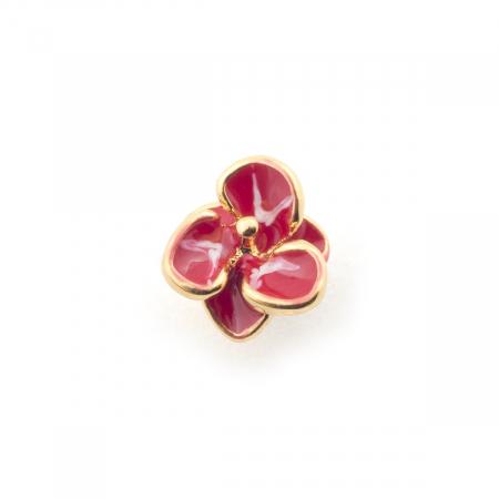 Single Flower Stud Fuchsia Fashion Jewellery