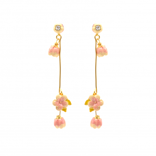 Cherry Blossom Multi Drop Earrings