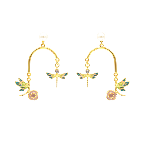 Dancing Dragonfly Statement Earrings