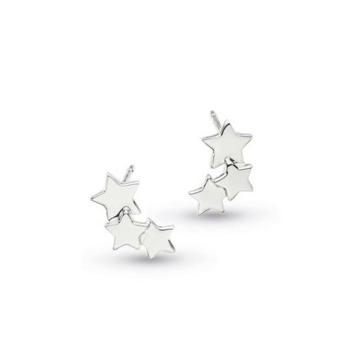 Silver Stargazer Galaxy Earrings