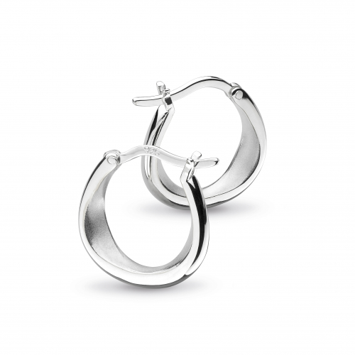 Silver Coast Shore Hoop Earrings