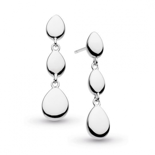 Silver Coast Pebble Linking Pebbles Drop Earrings