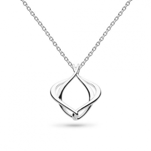 Mini Silver Entwine Alicia Necklace