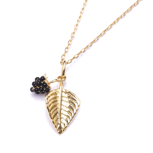 Blackberry & Leaf Pendant
