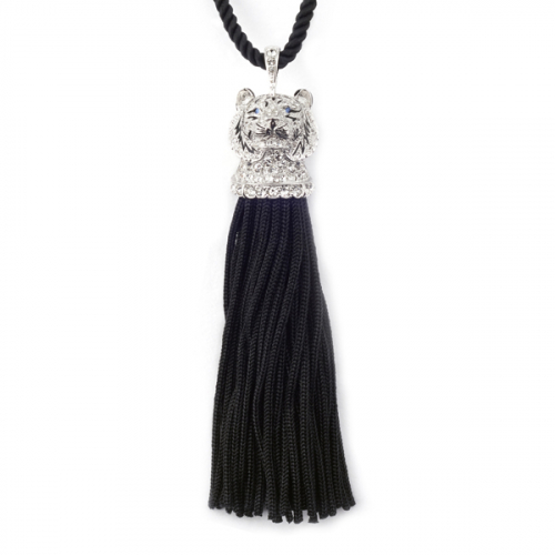White Tiger Tassel Necklace