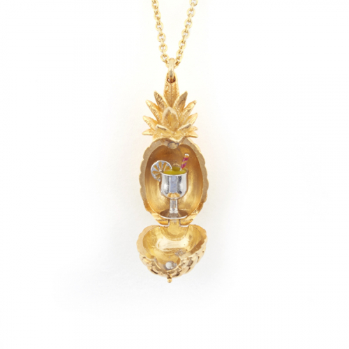 Pineapple Locket with Cocktail