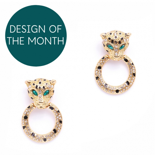 Bejewelled Leopard Hoops