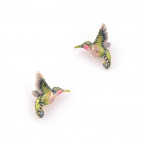 Hummingbird Stud - Green
