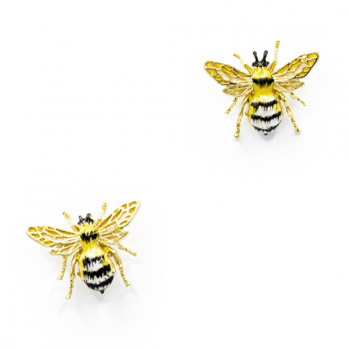 Queen Bee Enamelled Studs