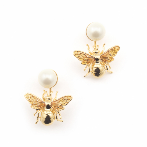 Queen Bee Pearl Drop Earring