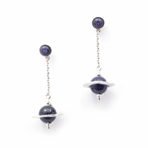 Astro Micro Orb Chain Earrings