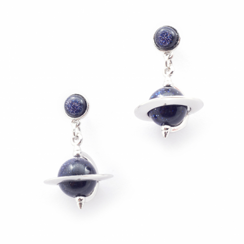 Astro Micro Orb Drop Earrings