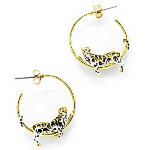 Clouded Leopard Hoops