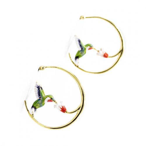 Hummingbird Hoop - Green