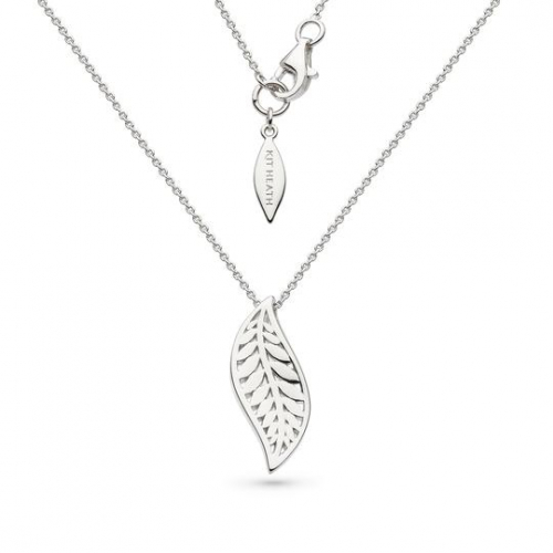 Silver Blossom Eden Leaf Necklace